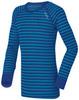 Odlo Warm детское термобелье рубашка синяя в полосу - 1