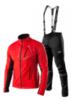 Victory Code Dynamic разминочный лыжный костюм с лямками red - 1