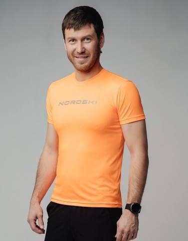 Nordski Logo футболка мужская orange