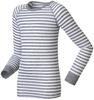 Odlo Warm детское термобелье футболка с длинным рукавом белая-серая - 2