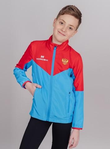 Nordski Jr Sport куртка для бега детская red-blue