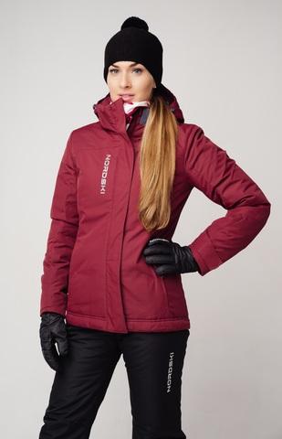 Nordski Mount лыжная утепленная куртка женская wine