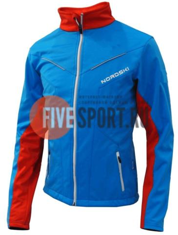 Nordski National разминочная куртка мужская blue