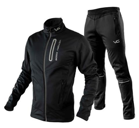 Victory Code Go Fast разминочный лыжный костюм черный