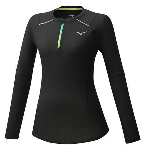 Mizuno Dry Aeroflow Ls Hz футболка с длинным рукавом женская черная