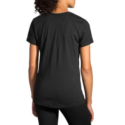Brooks Run Mist Tee женская футболка черная