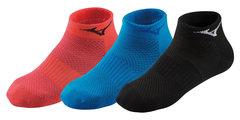Mizuno Training Mid 3P комплект носков черные-синие-коралловые