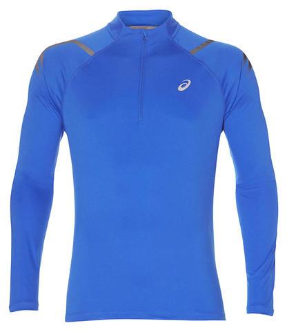Asics Icon 1/2 Zip LS мужская рубашка для бега голубая