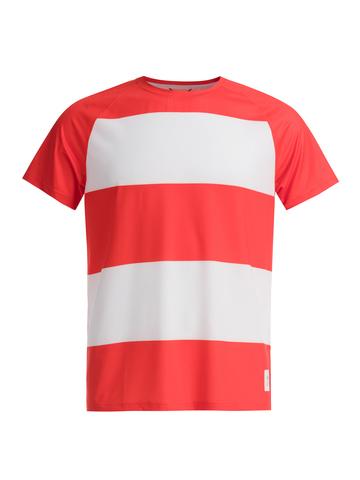 Футболка мужская GRI Маяк, красно-белая