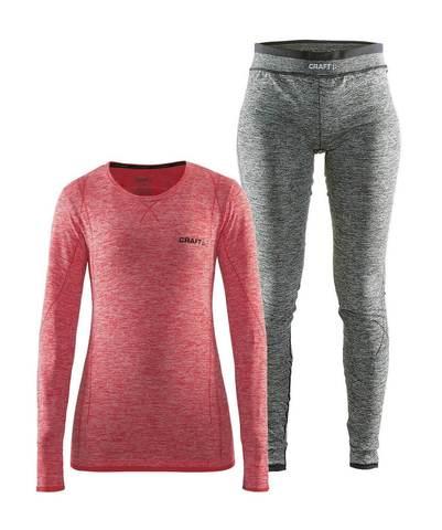 Craft Comfort комплект термобелья женский red-black
