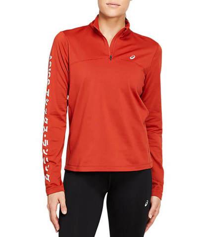 Asics Katakana Winter 1/2 Zip рубашка беговая женская красная
