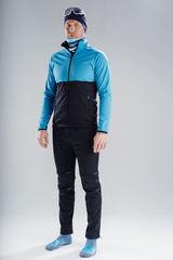 Nordski Premium разминочный костюм мужской light blue-black