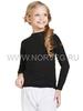 Термобелье рубашка Norveg Active Kids детская с длинным рукавом чёрная - 1