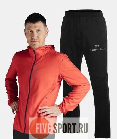 Nordski Run Motion костюм для бега мужской Red-Black
