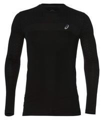 Asics Seamless Ls Texture мужская рубашка для бега черная