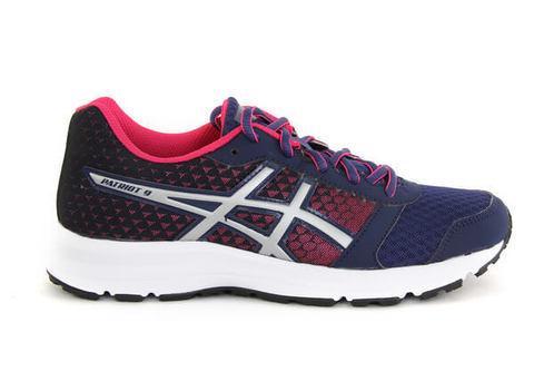 Asics Patriot 9 GS кроссовки для бега детские синие-розовые