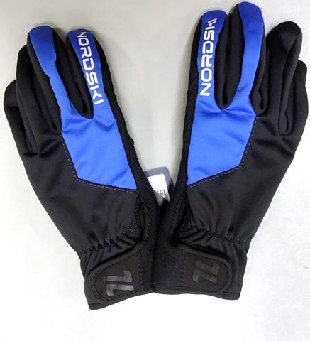 Nordski Jr Racing WS перчатки детские black-blue
