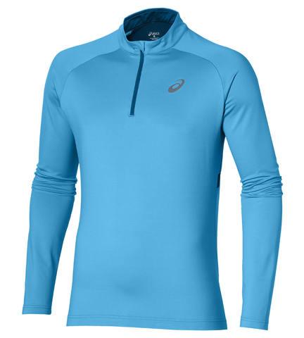 Беговая рубашка мужская Asics 1/2 Zip Winter синяя