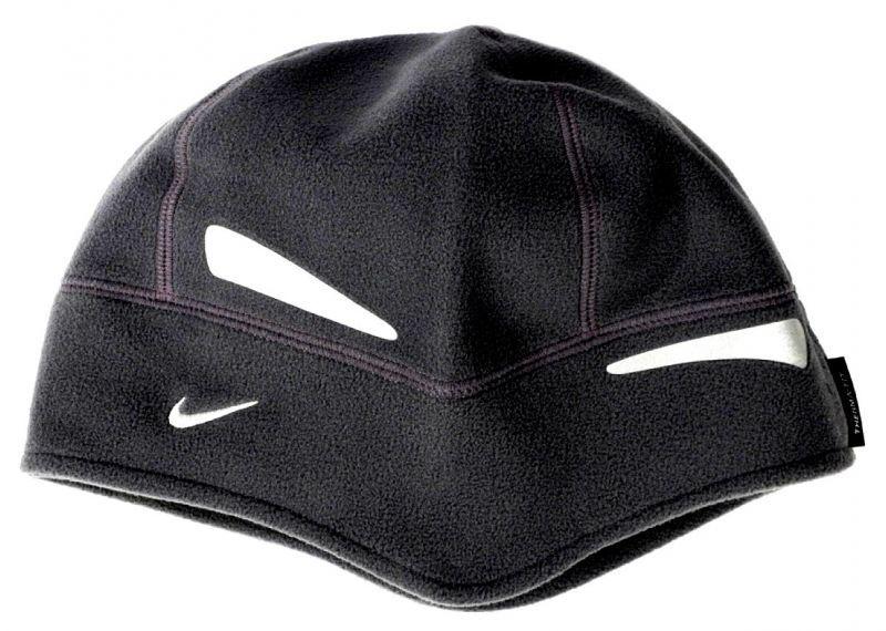 Шапочка флисовая беговая Nike чёрная