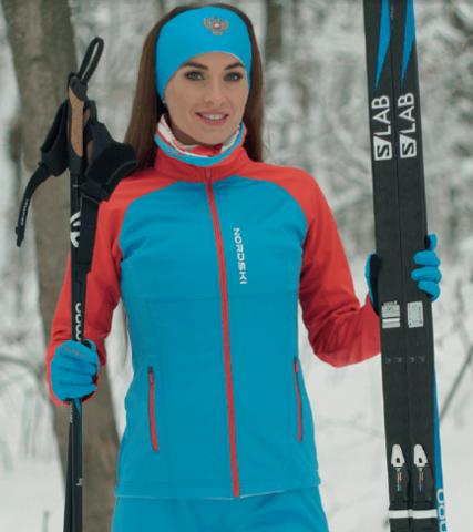 Nordski Premium лыжная куртка женская blue-red