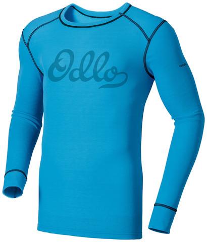 Odlo Heritage Warm мужская терморубашка c длинным рукавом голубая