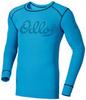 Odlo Heritage Warm мужская терморубашка c длинным рукавом голубая - 1
