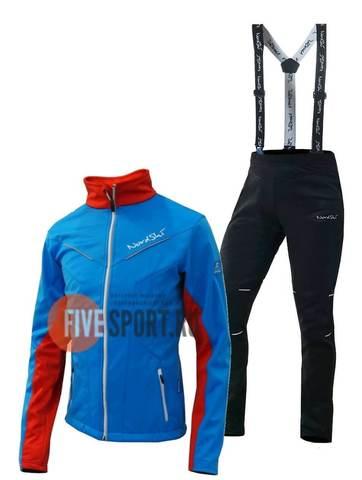 Nordski Jr National Premium разминочный лыжный костюм детский blue