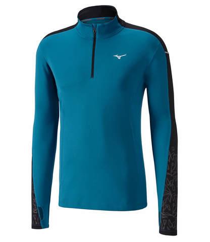 Mizuno Vortex Warmalite Hz мужская беговая рубашка синяя