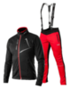 Victory Code Dynamic разминочный лыжный костюм с лямками black-red - 1