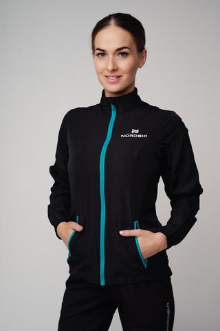 Nordski Motion куртка для бега женская Black/Light blue