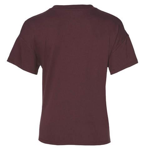 Asics Big Logo Tee футболка для бега женская бордовая