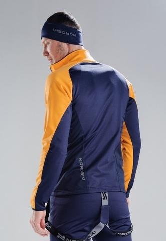 Nordski Premium лыжная куртка мужская orange-blueberry
