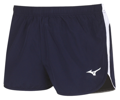 Mizuno Authentic Split Short мужские беговые шорты темно-синие