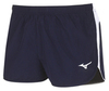 Mizuno Authentic Split Short мужские беговые шорты темно-синие - 1