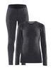 Craft Merino 180 комплект термобелья женский black-melange - 1