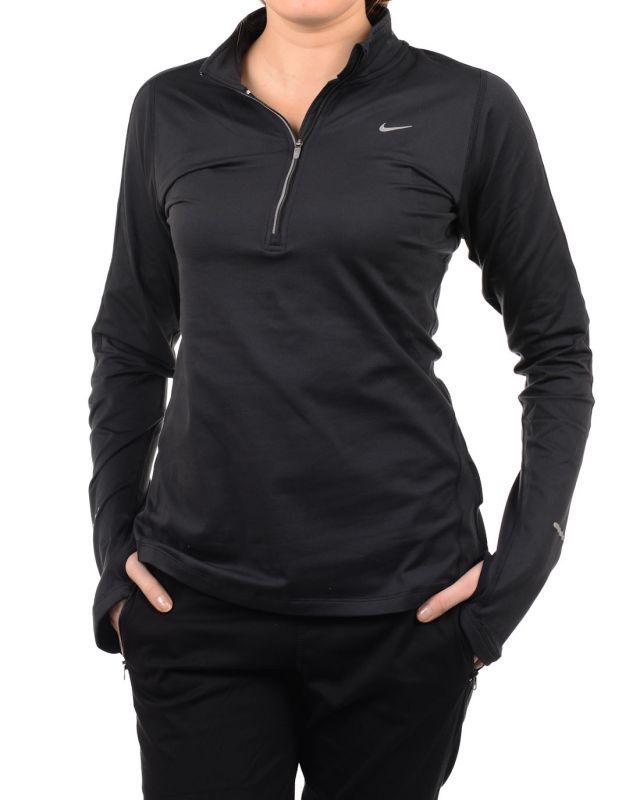 Футболка Nike Element H/Z (W) /Рубашка беговая чёрная - 3