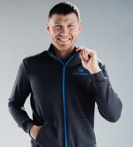 Nordski Zip толстовка мужская grey-blue