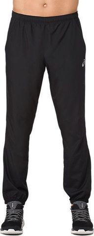 Asics Silver Woven Pant мужские спортивные брюки черные (РАСПРОДАЖА)