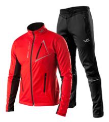 Victory Code Dynamic разминочный лыжный костюм красный