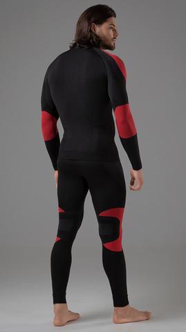 V-MOTION Alpinesports мужское термобелье комплект черно-красный