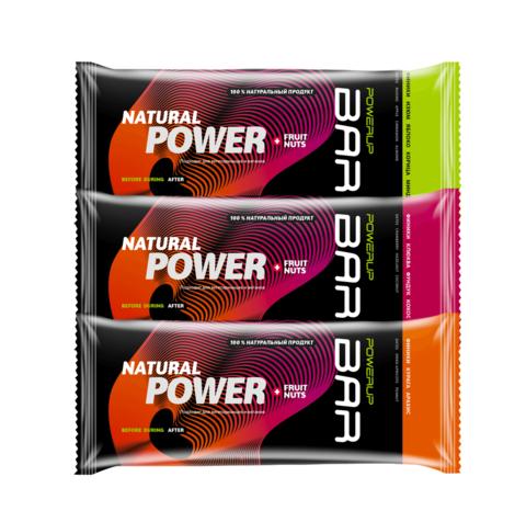 PowerUp Bar Fruit+Nuts набор энергетических батончиков