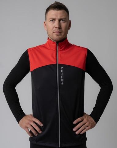Nordski Active лыжный жилет мужской red-black
