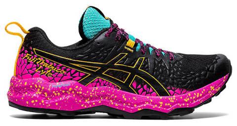 Asics Fujitrabuco Lyte кроссовки внедорожники женские черные-фиолетовые