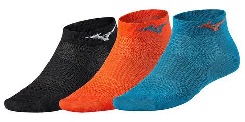 Mizuno Training Mid 3P комплект носков черные-синие-оранжевые