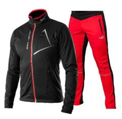Victory Code Dynamic разминочный лыжный костюм black-red