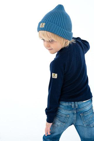 Janus Prince or Princess Wool термобелье детское из шерсти мериносов рубашка темно-синяя