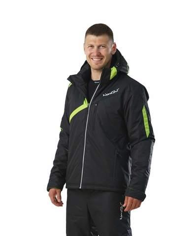 Nordski Premium мужская утепленная лыжная куртка black/green