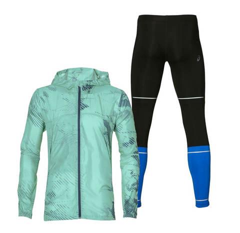 Asics Packable Lite Show костюм для бега мужской голубой-черный