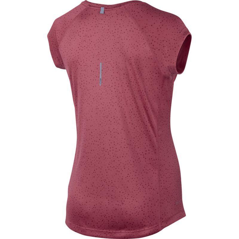 Футболка Nike Printed Miler SS V-Neck (WOMEN) красная - 2