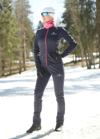 Nordski Jr Motion 2020 разминочный лыжный костюм детский blueberry-pink